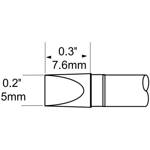 ראש לידית מלחם - METCAL STP-CH50 - CHISEL 5MM METCAL