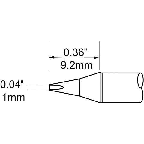 ראש לידית מלחם - METCAL SCP-CH10 - CHISEL 1MM METCAL
