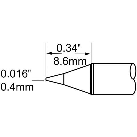 ראש לידית מלחם - METCAL SCP-CN04 - CONICAL 0.4MM METCAL