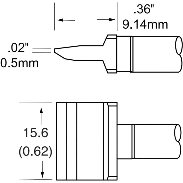 ראש לידית מלחם - METCAL RFP-BL2 - BLADE 15.4MM METCAL