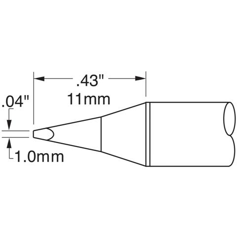 ראש לידית מלחם - METCAL SSC-625A - CHISEL 1MM METCAL