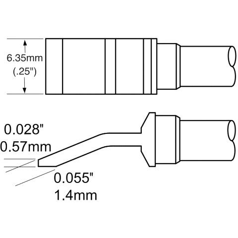 ראש לידית מלחם - METCAL TFP-BLH40 - HEAVY DUTY 6.35MM METCAL