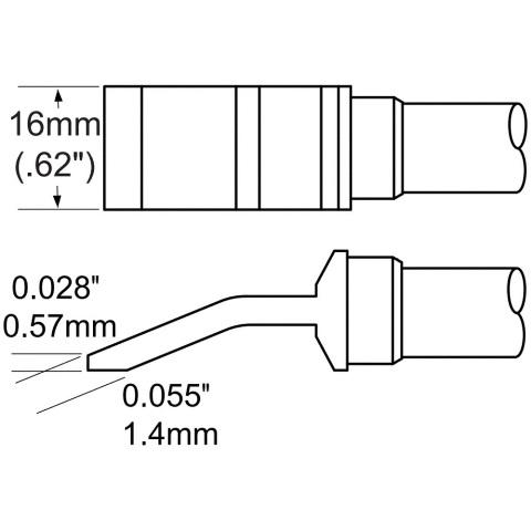 ראש לידית מלחם - METCAL TFP-BLH50 - HEAVY DUTY 16MM METCAL