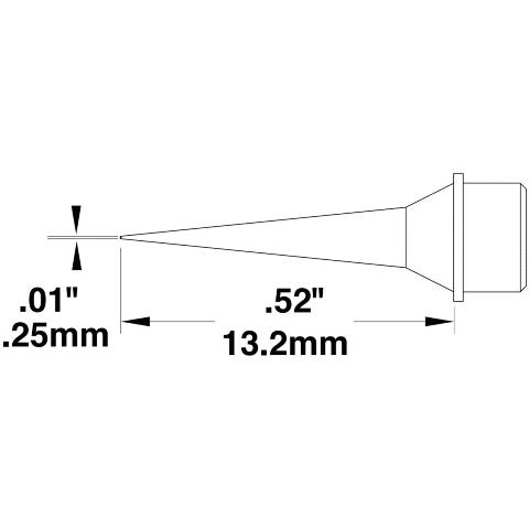 ראש לידית מלחם - METCAL STTC-090 - CONICAL 0.25MM METCAL