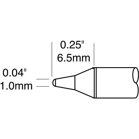 ראש לידית מלחם - METCAL STTC-101P - CONICAL 1MM METCAL