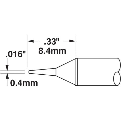 ראש לידית מלחם - METCAL STTC-122 - CONICAL 0.4MM METCAL