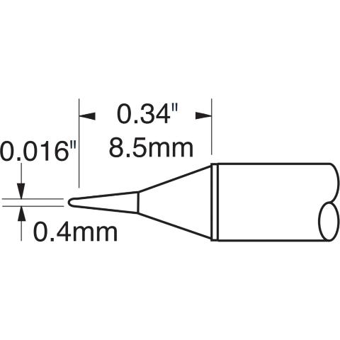ראש לידית מלחם - METCAL STTC-145P - CONICAL 0.4MM METCAL