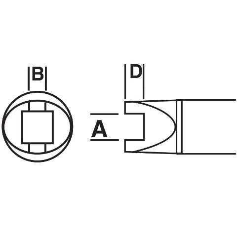 ראש לידית מלחם - METCAL SMTC-003 - SLOT 4.83MM METCAL