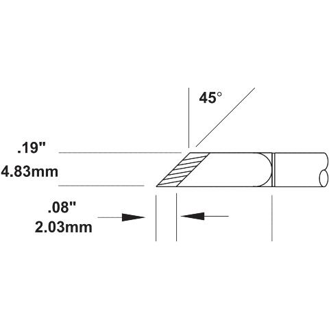 ראש לידית מלחם - METCAL SMTC-1161 - KNIFE 4.83MM METCAL