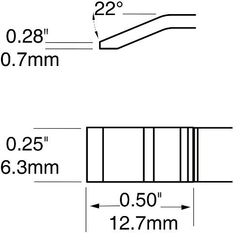 ראש לידית מלחם - METCAL PTTC-704 - BLADE 6.35MM METCAL