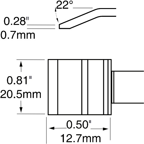 ראש לידית מלחם - METCAL PTTC-706 - BLADE 20.5MM METCAL