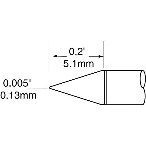 ראש לידית מלחם - METCAL UFTC-7CN01 - CONICAL 0.13MM METCAL