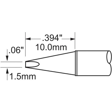 ראש לידית מלחם - METCAL PHT-750325 - CHISEL 1.5MM METCAL