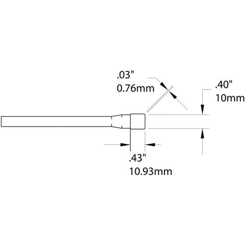 ראש לידית מלחם - METCAL TACT-605 - BLADE 10MM METCAL