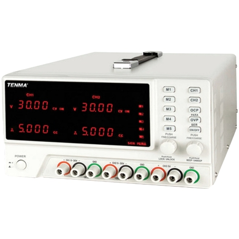 TENMA 3 CHANNEL PROGRAMMABLE DC POWER SUPPLY - 72-2645
