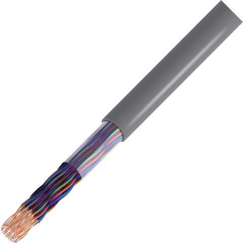 כבל תקשורת קשיח - 25X0.51MM² - CAT5E UTP - בידוד אפור PRO-POWER