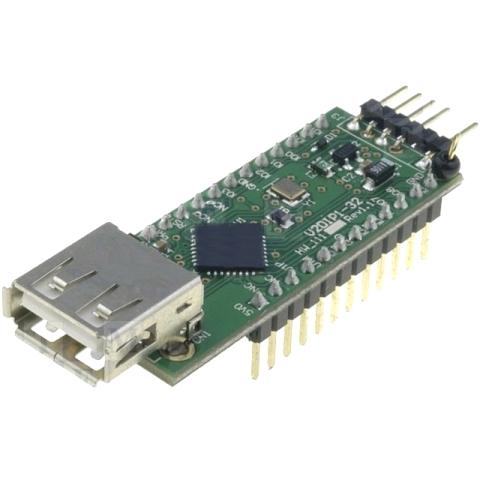 מודול פיתוח - V2DIP1-32 , USB HOST CONTROLLER , VNC2 FTDI