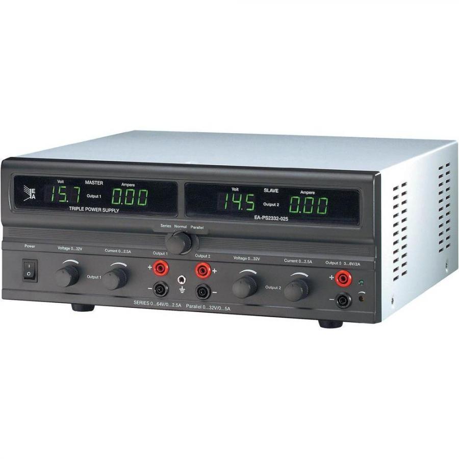 ספק כוח מעבדתי - ADJ - שלוש יציאות - (0-32V / 0-2.5A + 6V / 2A) ELEKTRO AUTOMATIC