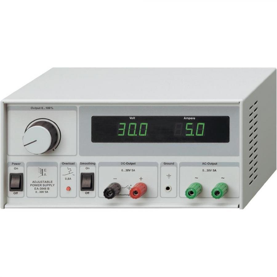 ספק כוח מעבדתי - ADJ - ארבע יציאות - (0-30V / 0-5A + 300V) ELEKTRO AUTOMATIC
