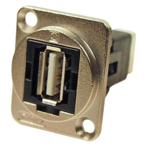 מתאם לפנל - (USB 2.0 A (F) ~ USB 2.0 B (F CLIFF