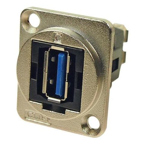 מתאם לפנל - (USB 3.0 A (F) ~ USB 3.0 A (F CLIFF