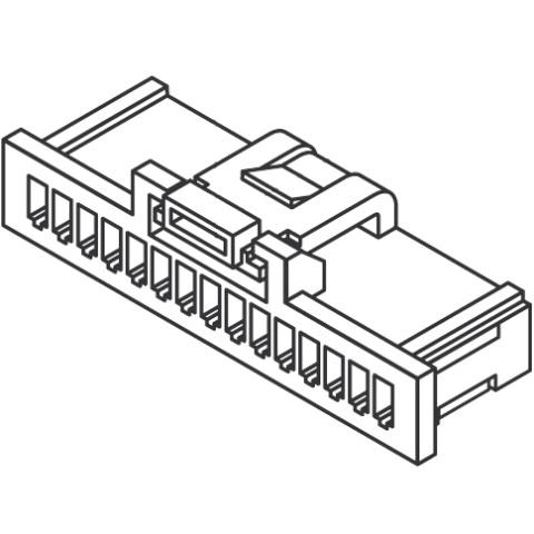 מחבר MOLEX ללחיצה לכבל - סדרת PICO-CLASP - נקבה 7 מגעים MOLEX