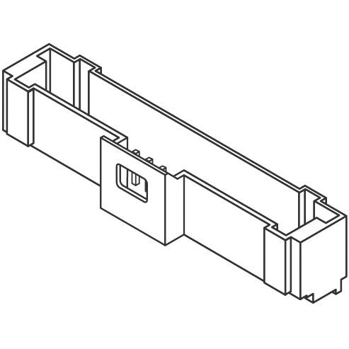 מחבר MOLEX להלחמה למעגל מודפס - סדרת PICO-CLASP - זכר 11 מגעים MOLEX