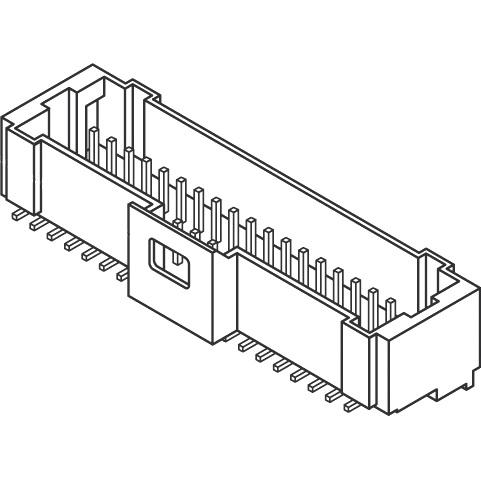 מחבר MOLEX להלחמה למעגל מודפס - סדרת PICO-CLASP - זכר 30 מגעים MOLEX