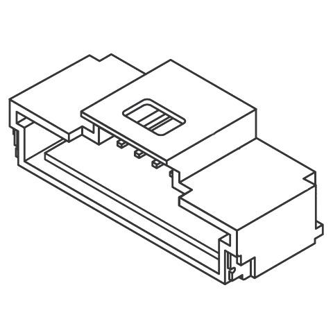 מחבר MOLEX להלחמה למעגל מודפס - סדרת PICO-CLASP - זכר 15 מגעים MOLEX