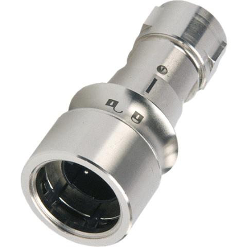 מחבר תעשייתי PXM6010 - זכר ללחיצה לכבל - פין זכר - 16 מגעים BULGIN