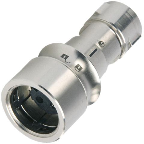 מחבר תעשייתי PXM6010 - זכר ללחיצה לכבל - פין נקבה - 8 מגעים BULGIN