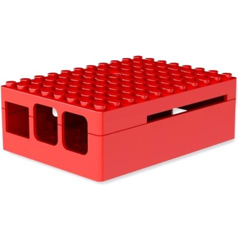 קופסת זיווד PI-BLOX אדומה עבור RASPBERRY PI 3 CAMDENBOSS