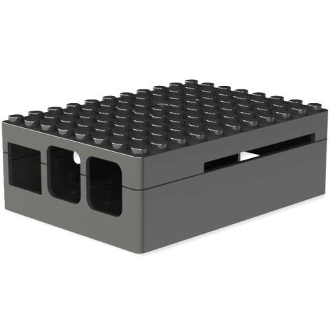 קופסת זיווד PI-BLOX שחורה עבור RASPBERRY PI 3 CAMDENBOSS