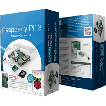 קיט פיתוח - RASPBERRY PI 3 - MODEL B - CAMERA KIT RASPBERRY PI