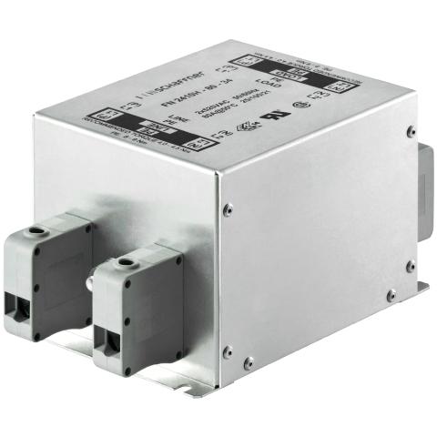 מסנן EMC / RFI עם חיבור לפאנל - סדרה 32A - FN2410H SCHAFFNER
