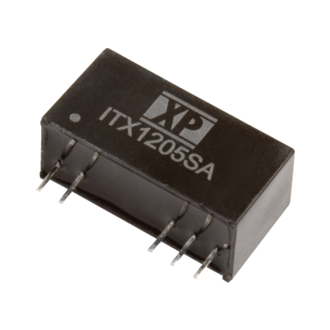 ממיר מתח - 6W , 36VDC ~ 75VDC ⇒ 12VDC , 500MA XP POWER