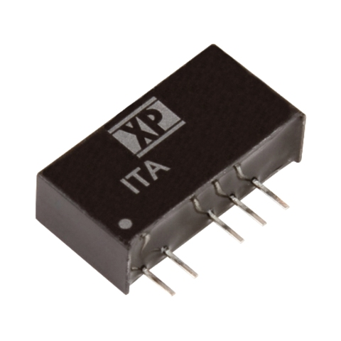 ממיר מתח - 1W , 10.8VDC ~ 13.2VDC ⇒ ±5VDC , 100MA XP POWER