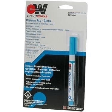 נוזל הגנה ירוק לרכיבי אלקטרוניקה - עט 5 גרם CHEMTRONICS