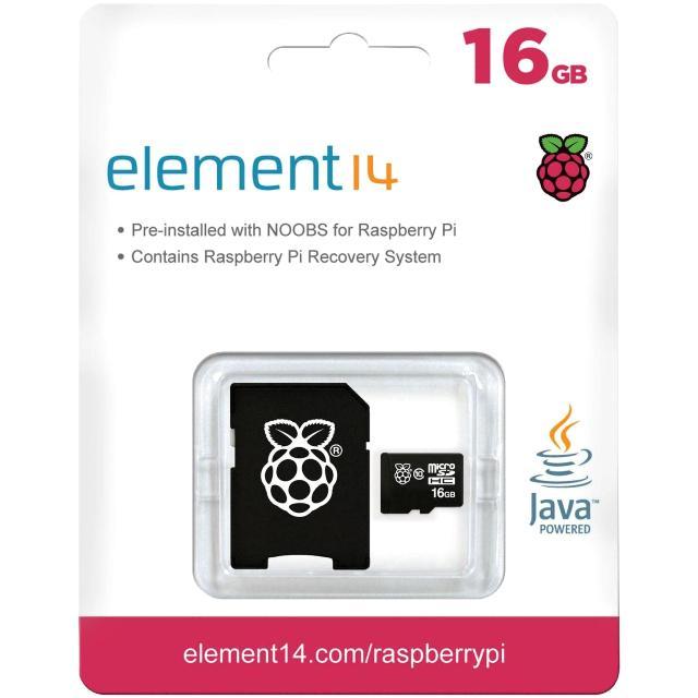 מערכת הפעלה NOOBS ULTRA 16GB עבור RASPBERRY PI 3 RASPBERRY PI