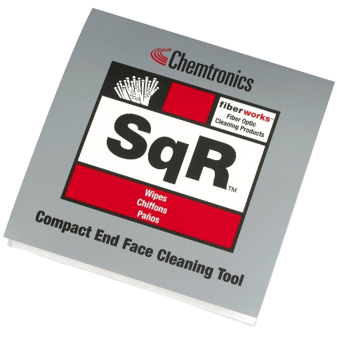 CHEMTRONICS 102 X 102MM  FIBER OPTIC WIPES - SQR