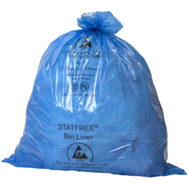 שקיות אשפה כחולות אנטי סטטיות - 970X460MM VERMASON