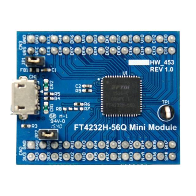 מדול פיתוח - FT4232H-56Q , USB ⇒ SERIAL / FIFO , FT4232H FTDI