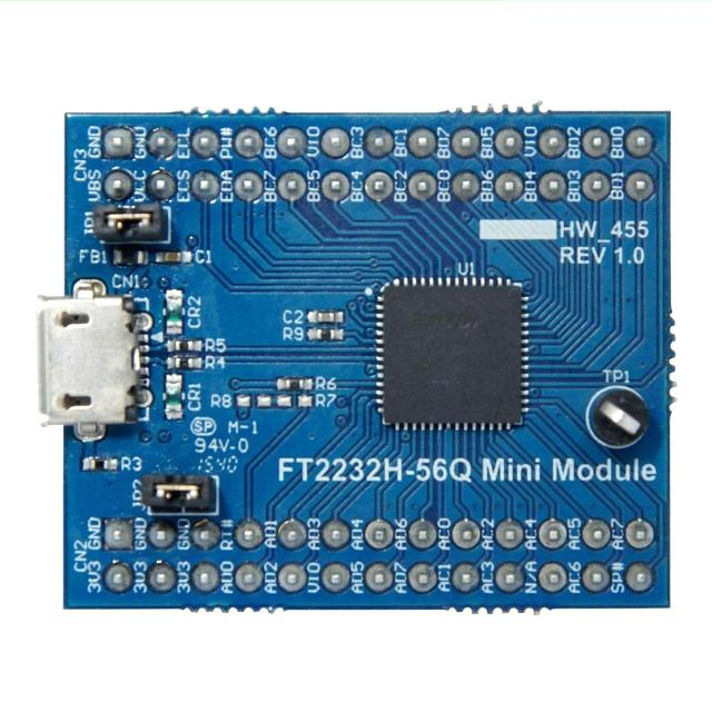 מדול פיתוח - FT2232H-56Q , USB ⇒ SERIAL / FIFO , FT2232H FTDI