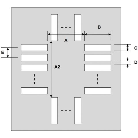 שבלונת הלחמה לרכיבים QFN-32 , 0.5MM PITCH - SMD PROTO ADVANTAGE