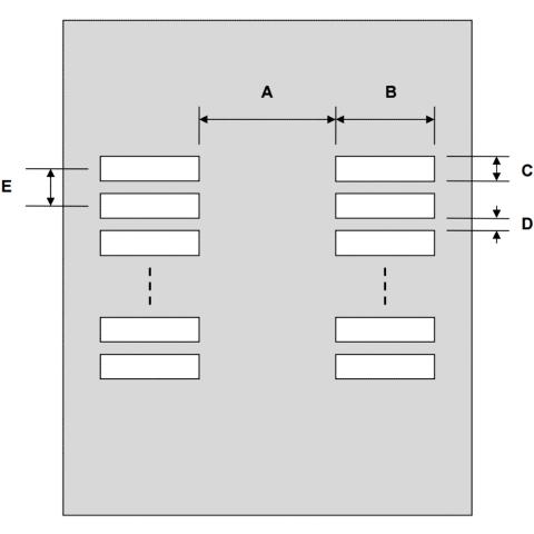 שבלונת הלחמה לרכיבים SUPERSOT-6 / TSOT-6 , 0.95MM PITCH - SMD PROTO ADVANTAGE