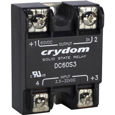 ממסר SPST-NO , 3VDC ~ 60VDC , 3A - SSR CRYDOM