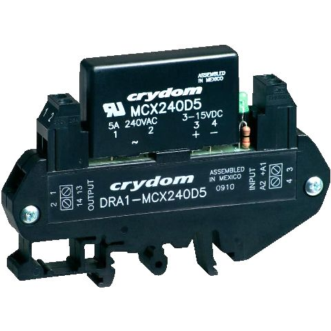 CRYDON DIN RAIL MOUNT SOLID STATE RELAYS - DRA1 MCX SERIES