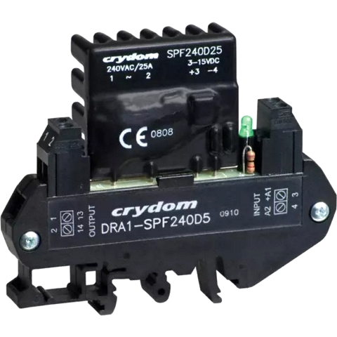CRYDON DIN RAIL MOUNT SOLID STATE RELAYS - DRA1 SPF SERIES