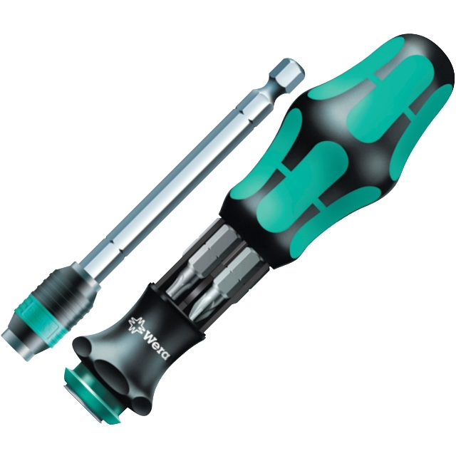 WERA SCREWDRIVER WITH 6PCS BIT MAGAZINE - KRAFTFORM KOMPAKT 22