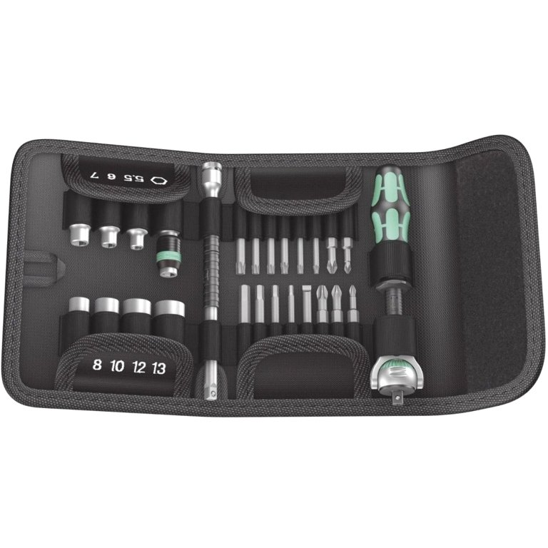 WERA SCREWDRIVER WITH 23PCS BIT SET - KRAFTFORM KOMPAKT ZYKLOP 1/4